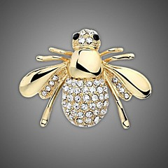 Gold Plated/Rhinestone Brooch/Women Fashion Animal Bee Brooch/Wedding/Party 1Pc