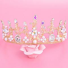 Dame Rhinestone / Legering / Imitert Perle Headpiece-Bryllup / Spesiell Leilighet Diademer 1 Deler Klar / Elfenben