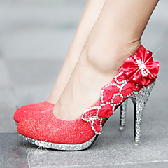 Women's Shoes Heel Heels / Platform Heels Wedding / Party & Evening / Dress Red / Gold/3361-1
