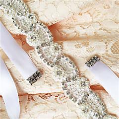 Raso Matrimonio / Party/serata / Da giorno Fusciacca-Con perline / Con applique / Con perle / Con cristalli / Diamantini Da donna 250cm