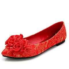Women's Wedding Shoes Mary Flats Wedding / Dress Red