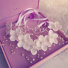 Ženy Malé družičky Slitina Imitace perly Hedvábí Přílba-Svatba Zvláštní příležitost Čelenky Květiny Jeden díl