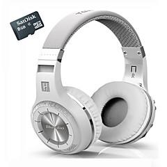 Bluetooth estéreo bluedio h + auscultadores sem fios construído em mic micro-sd / fm rádio bt4.1 mais de fones de ouvido + 8gtf cartão