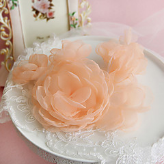 Women's Organza Headpiece-Wedding / Special Occasion / Outdoor Flowers 1 Piece