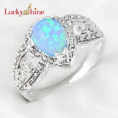 Duże pierścionki Kamień szlachetny Kropla Klasyczny Kamienie zodiakalne Modny Biżuteria Impreza Urodziny
