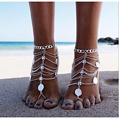 Žene Kratka čarapa/Narukvice Legura Jedinstven dizajn Moda Više slojeva Europska Personalized Bikini Jewelry Pink Ženski Jewelry ZaDnevno