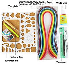 400pcs quilling Papier DIY Fertigkeit-Kunst Dekoration Kit / 7pcs eingestellt