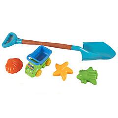 5-stykker strand sand legetøj sæt med sand skovl, lastbil, stjerne, flyselskab, shell