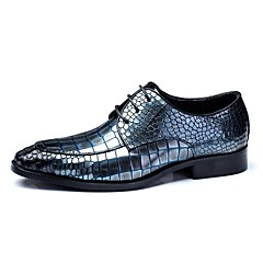 Men's Shoes Amir Limited Edition Diamond Grid Gentry Wedding/Party Royal Blue/Black/Burgundy Cowhide Leather Oxfords