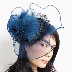 Women's Lace / Feather / Net Headpiece-Wedding / Special Occasion Fascinators 1 Piece