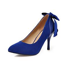 נעלי נשים-בלרינה\עקבים-פליז-עקבים-שחור / כחול / ירוק-חתונה / שמלה / מסיבה וערב-עקב סטילטו