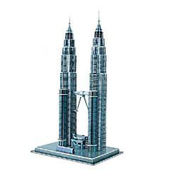 Puzzles Puzzles 3D Building Blocks DIY Toys Bâtiments célèbres Papier Bleu Maquette & Jeu de Construction