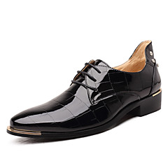 Men's Shoes Amir 2017 New Style Gentry Wedding / Party / Office Royal Blue/Black/Red Comfort Patent Leather Oxfords