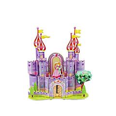 ジグソーパズル 3Dパズル ビルディングブロック DIYのおもちゃ 城 ペーパー 白 / レッド プラモデル&組み立ておもちゃ