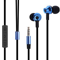 マイク付きabingo ES700金属人間工学に基づいたイヤホンスタイルのヘッドフォン& スマートフォン用のリモートコントロール