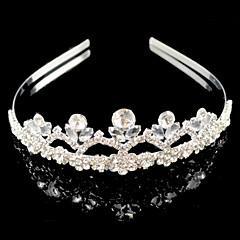 Mujer / Niña de flor Diamantes Sintéticos / Aleación Celada-Boda Bandas de cabeza 1 Pieza Plata Redondo