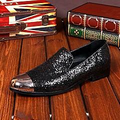 מוקסינים גברים של נעליים חתונה / מסיבה וערב עור שחור