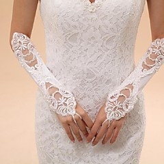 Elbow Length Fingerless Glove Tulle Bridal Gloves Party/ Evening Gloves Spring Summer Fall Winter lace
