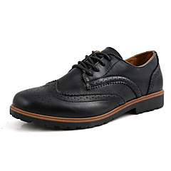 Men's Shoes Wedding / Office & Career / Party & Evening / Casual Bullock  Leatherette Oxfords Black / Brown / Khaki