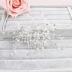Женский Хрусталь Заставка-Свадьба / Особые случаи / На каждый день / Для деловой одежды / на открытом воздухе Гребни 1 шт. Прозрачный