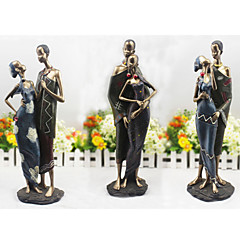 The Africa Black Skin Couple Cake Topper
