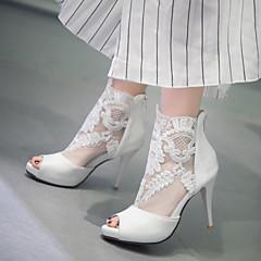 Women's Shoes Stiletto Heel Peep Toe / Platform Sandals Wedding / Party & Evening / Dress Black / White