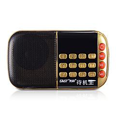 n-508 multifunctionele card radio mini draagbare radio ouderen ochtend extravert