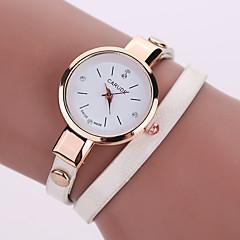 Mulheres Relógio de Moda Relógio Casual Quartzo Couro Banda BoêmioPreta Branco Azul Prata Vermelho Marrom Verde Rosa Roxa Bege Azul