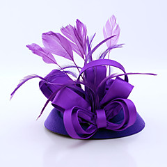 Women's Satin / Feather / Flannelette Headpiece-Wedding / Special Occasion / Casual / Outdoor Fascinators 1 Piece