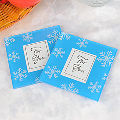 Snowflake Glass Photo Coasters (2pcs/box)