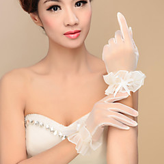 Wrist Length Fingertips Glove Nylon Bridal Gloves / Party/ Evening Gloves