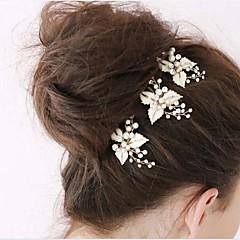 Femme Jeune bouquetière Strass Alliage Imitation de perle Casque-Mariage Occasion spéciale Epingle à Cheveux 1 Pièce
