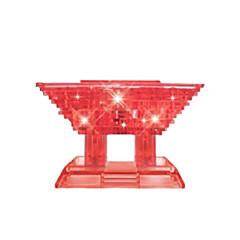 jigsaw zagonetke 3D puzzle Kristalne puzzle Građevni blokovi DIY igračke Kineska arhitektura ABS Srebrna Igračka model i građenje