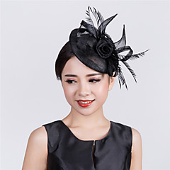 Womens Sinamay Flower Fascinator black navy ivory