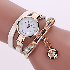 Damen Modeuhr Quartz Armbanduhren für den Alltag Leder Band BöhmischeSchwarz Weiß Blau Silber Rot Braun Grün Rosa Lila Beige Marinenblau