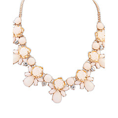 Women's Chain Necklaces Resin Alloy Fashion Beige Green Blue Pink Jewelry Wedding Party Daily Casual 1pc
