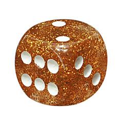 Royal St. 16 mm de juros ouro dice cebola resina arredondada bares Boy Color KTV comumente usado 100pcs material de resina