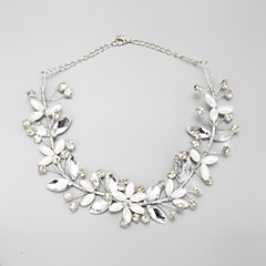 Collar Boda / Pedida Perla Artificial / Diamantes Sintéticos Perla Artificial / Aleación / Diamantes Sintéticos De mujeres