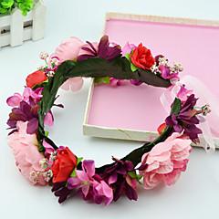Kadın / Çiçekçi Kız Kumaş Başlık-Düğün / Özel Anlar / Günlük / Dış Mekan Wianki 2 Parça