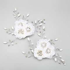 Women's / Flower Girl's Rhinestone / Alloy / Chiffon Headpiece-Wedding / Special Occasion Flowers 2 Pieces