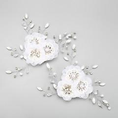 Dame / Blomsterpige Rhinestone / Legering / Chiffon Headpiece-Bryllup / Spesiell Leilighet Blomster 2 deler