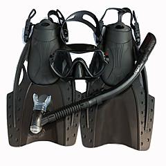 Pacotes de Mergulho Máscara de Mergulho Fins de Mergulho Kit para Snorkel Snorkel Seco Mergulho e Snorkeling Silicone-SBART