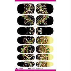 water transfer nagel folie sticker zwarte droom pauwenveren nail wraps sticker elegante