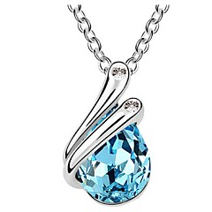 Thousands of colors Women's Alloy Necklace Daily Crystal-1-532