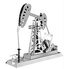 Quebra-cabeças Quebra-Cabeças 3D / Quebra-Cabeças de Metal Blocos de construção DIY Brinquedos Máquina Metal PrateadaModelo e Blocos de