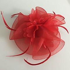Femme Plume / Tulle / Filet Casque-Mariage / Occasion spéciale Coiffure 1 Pièce