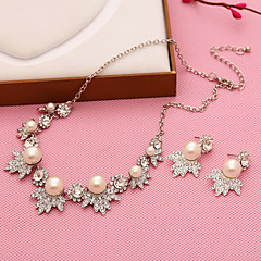 Jewelry Set Women's Anniversary / Wedding / Engagement / Party / Special Occasion Jewelry Sets Imitation Pearl / Alloy Non StoneNecklaces