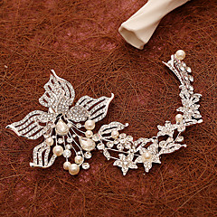 Women's Pearl / Rhinestone / Alloy Headpiece-Wedding / Special Occasion Flowers / Hair Clip 1 Piece