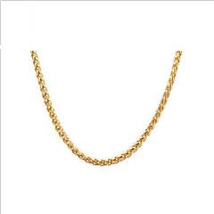 Da donna Collane a catena Acciaio inossidabile Placcato in oro 18K oro Di tendenza Europeo Dorato Gioielli Per Quotidiano Casual 1 pezzo