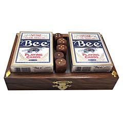 produto real st caixa de fósforos caixa de póquer wb576 terno dice de pau-rosa de poker 2 pagar (excluindo o poker)